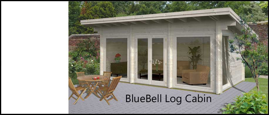 Bluebell log cabin kit