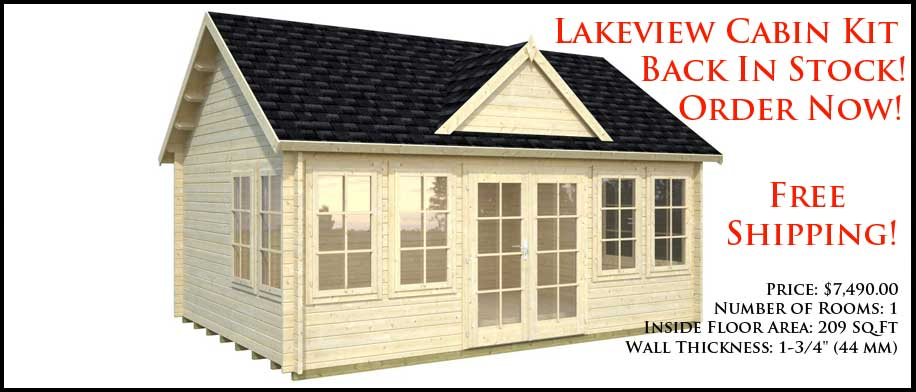 2017 Best Seller! In Stock! Lakeview Cabin Kit ...