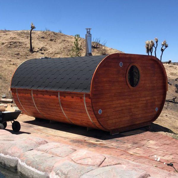 W3 barrel sauna finished