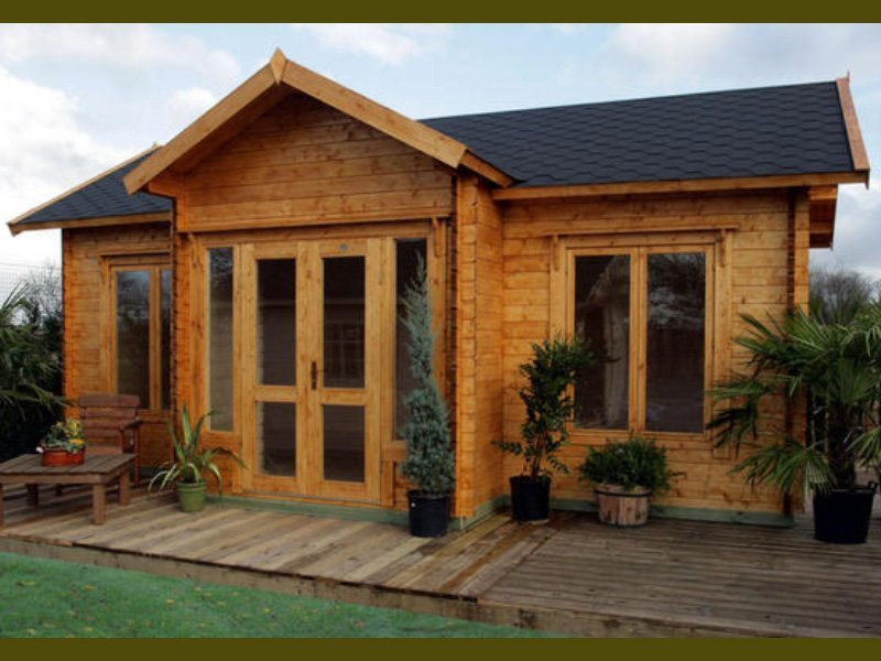 Clubhouse prefab wooden cabin kit for Large cabin kits