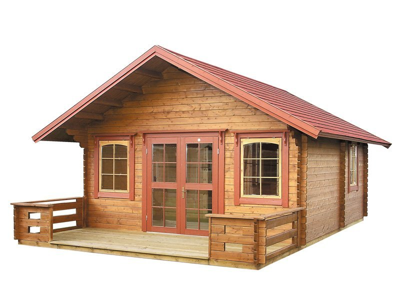 Getaway prefab wooden cabin kit loft for Loft cabin kits