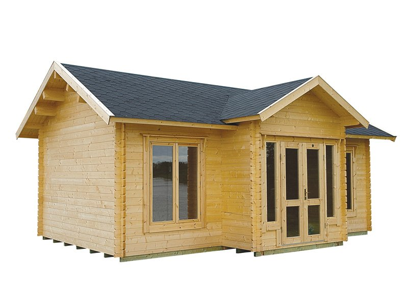Clubhouse cabin kit bzb cabins and outdoors for 1000 sq ft cabin kits