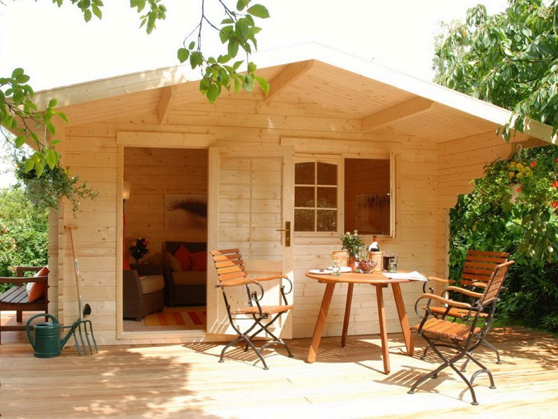 Escape prefab wooden allwood cabin kit for Wood cabin homes