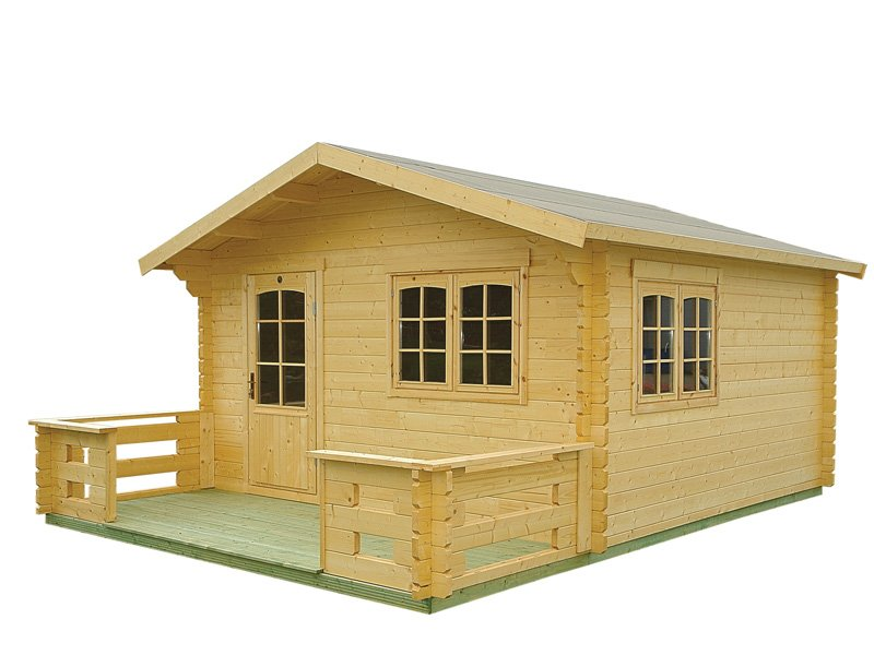 Tranquillity prefab wooden cabin kit for Wood cabin homes