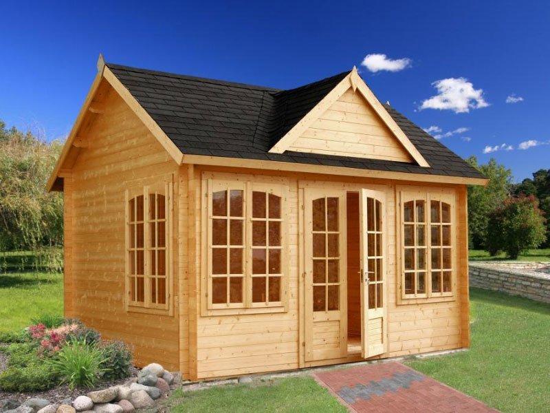 Pinecrest Prefab Wooden Cabin Kit Allwood Chloe Cabin Kit