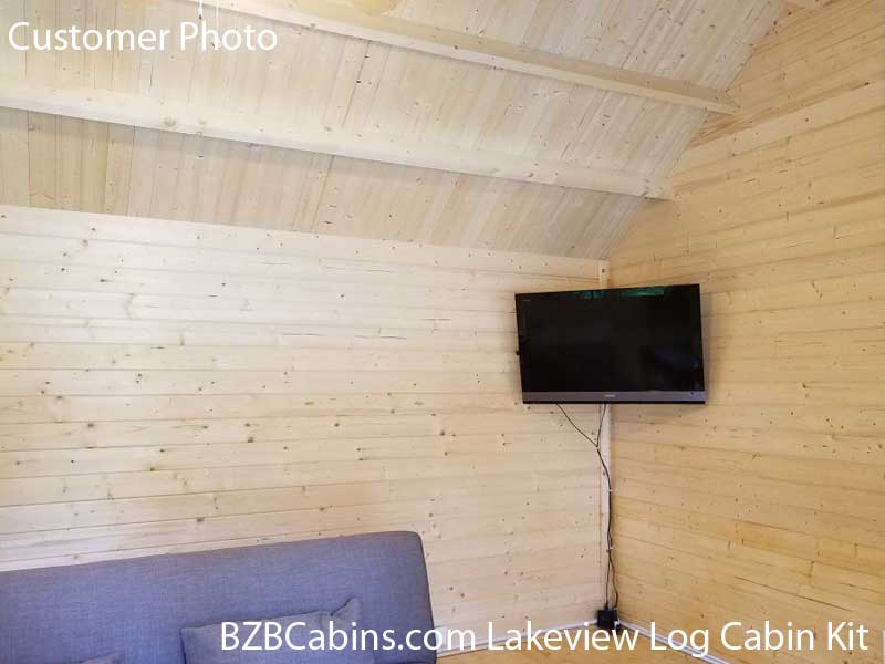Lakeview Log Cabin Kit Interior