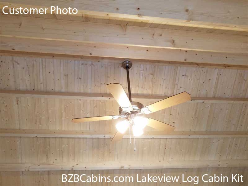 Lakeview Log Cabin Ceiling