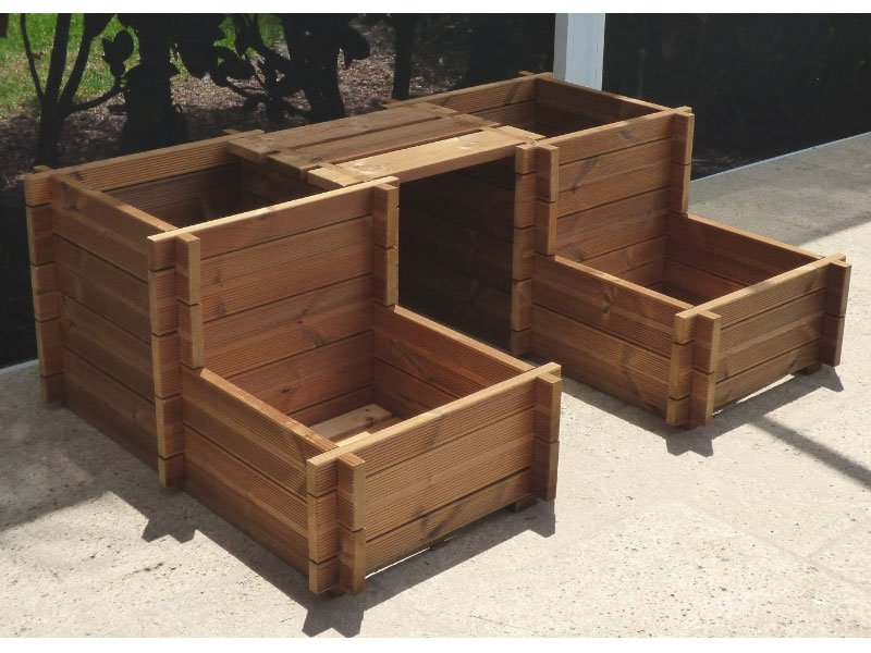Planter Box Bench Kit 17 Quot Bzb Cabins And Outdoors
