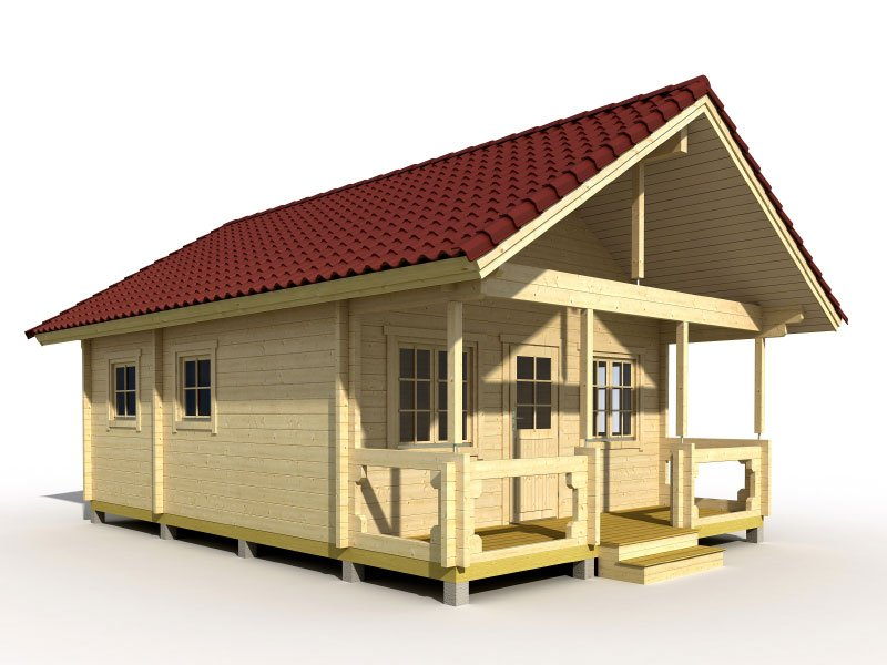 Prefab wooden cabin kit loft for Loft cabin kits