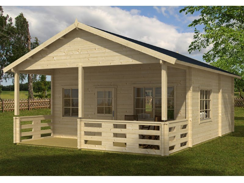 Prefab wooden log cabin kit riverside for Large cabin kits