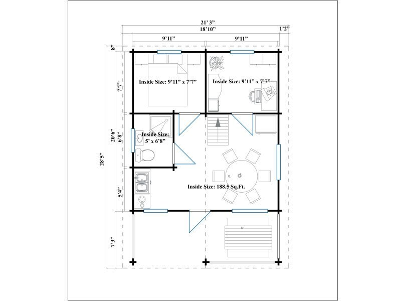 Pin cabin floor plans 16 x 20 on pinterest for 20 x 32 cabin with loft