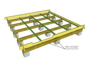 Foundation-Cinder blocks+pressure treated timber