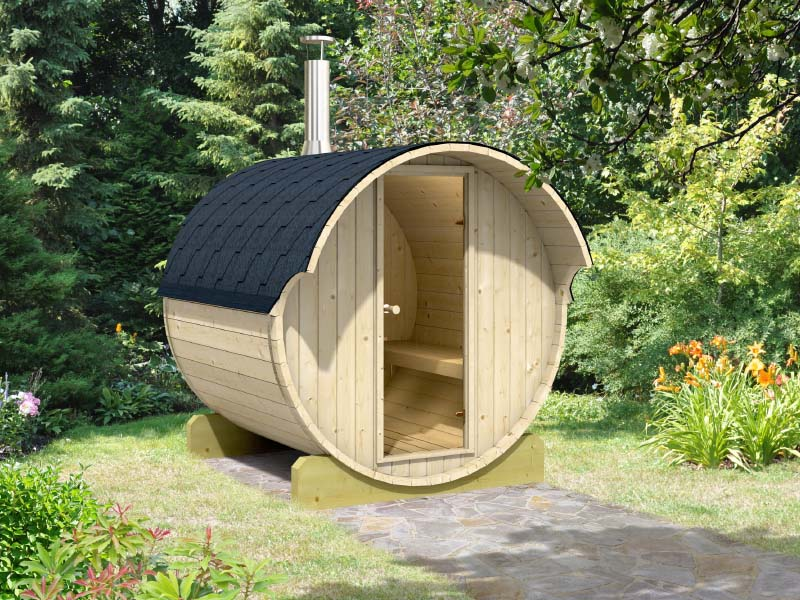barrel saunas outdoor sauna kits bzbcabinsandoutdoors. Black Bedroom Furniture Sets. Home Design Ideas