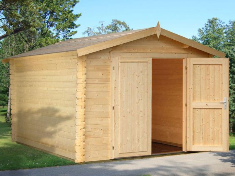 Solid nordic spruce wood shed kit tours for Garden shed sizes