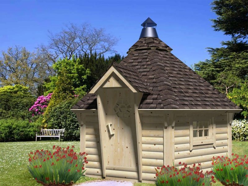Affordable diy backyard and garden pavilion and grill for Garden hut sale