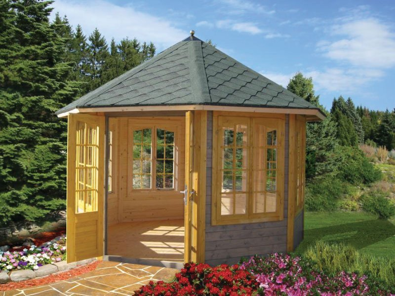 Backyard garden pavilion kits for sale bzb cabins and - Rundes gartenhaus ...