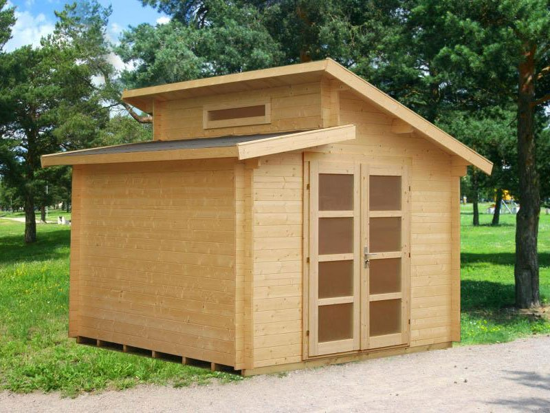 Solid Nordic Spruce Wood Shed Kit Dora