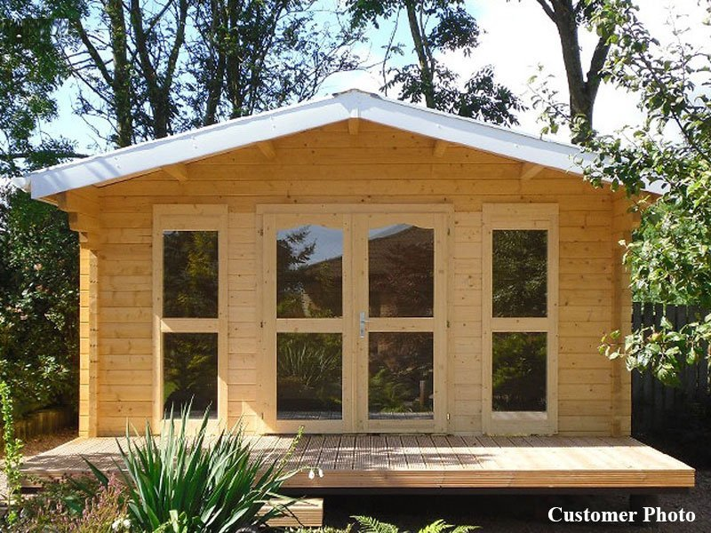 DIY Small Log Cabin Kit Sunset Wooden Cabin Kits for Sale