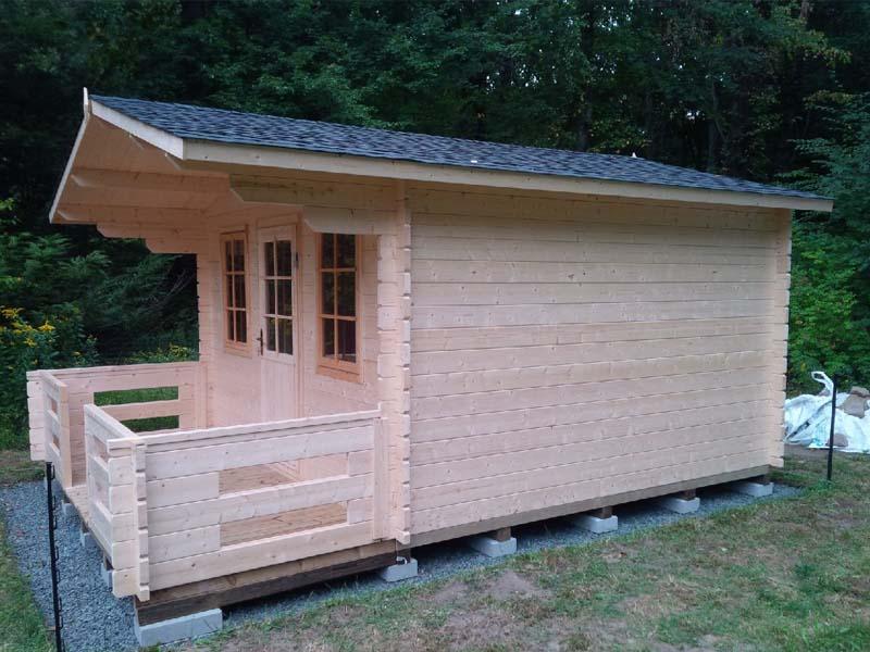 Diy small log cabin kit hideaway 2 bzbcabinsandoutdoors for Diy small cabin