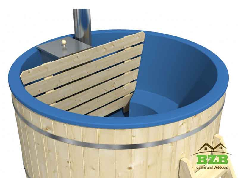 Wood Burning Hot Tub I170 With Heater Bzb Cabins And