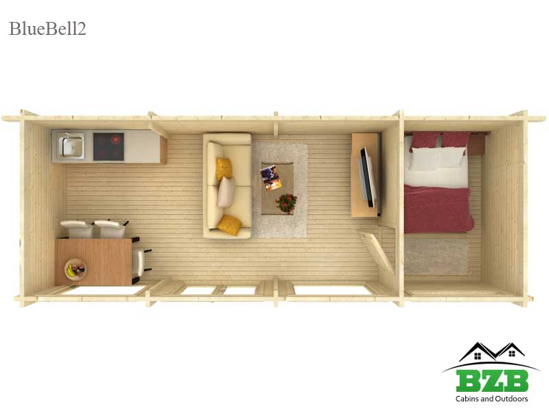 Bluebell 2 Log Cabin Kit Bzb Cabins And Outdoors