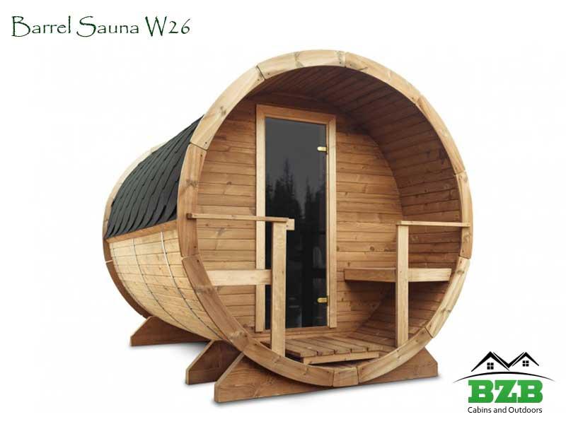 Barrel Sauna Kit W26 Bzb Cabins And Outdoors