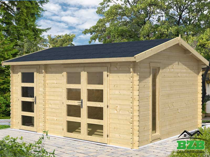 Garden shed kits storage sheds for sale for Log cabin garages for sale