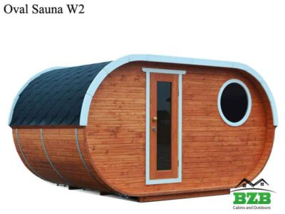 Oval Sauna Kit W2 with heater