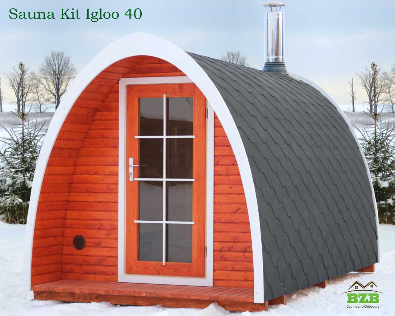 Igloo Kit 40 Barrel Sauna For Up To 8 Persons Bzb Cabins