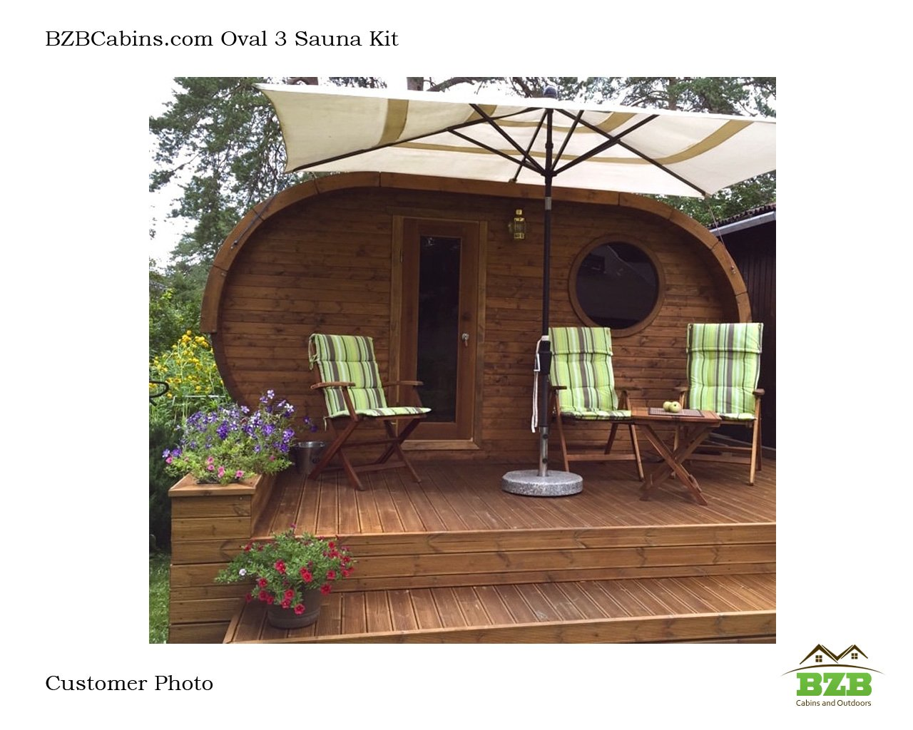 W3 Oval Shaped Barrel Sauna With 3 Rooms Bzb Cabins