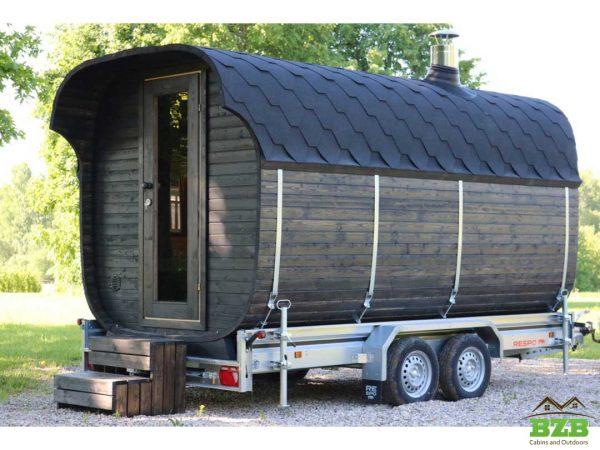 Barrel sauna SQ44 on wheels