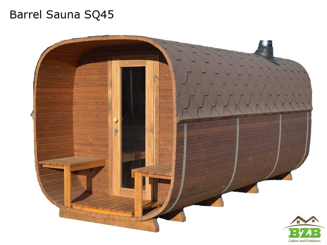 3 Rooms Outdoor Sauna Kit Sq45 Bzb Cabins