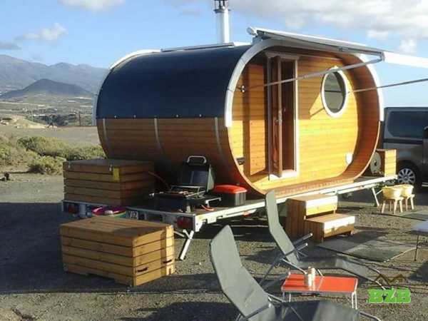 W2 sauna on a trailer