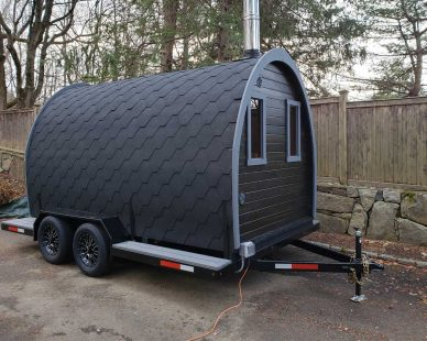 Igloo 40 sauna on wheels