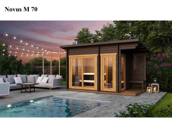 Sauna cabin kit novus M 70 poolside