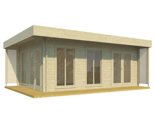 Resort log cabin kit one room