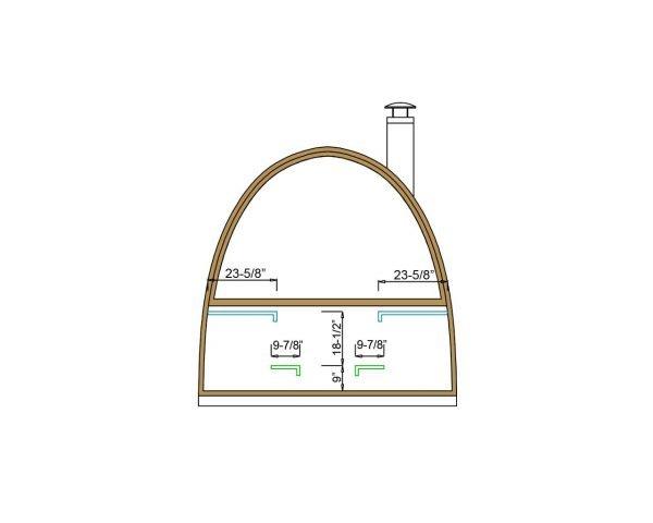 Igloo lux barrel sauna bench dimensions
