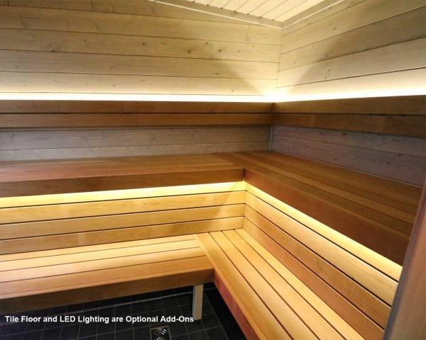 Luxury outdoor sauna kit Novus Lux hot room