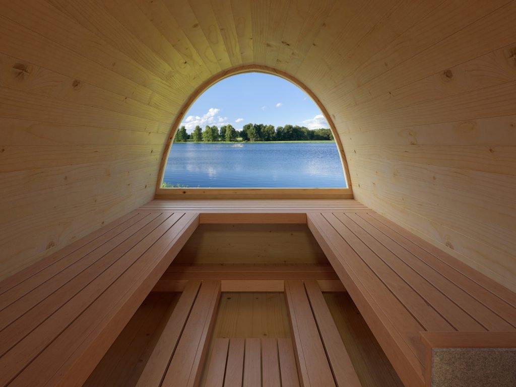 Igloo Lux Barrel Sauna interior
