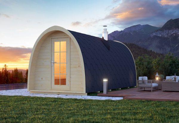 Igloo Lux outdoor barrel sauna 3D view