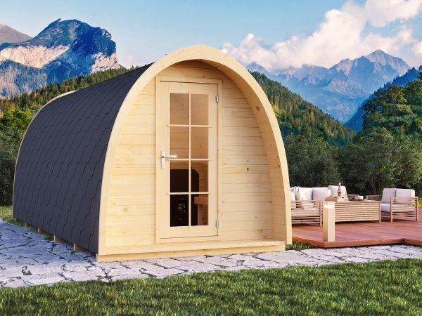 Igloo Lux barrel sauna front view