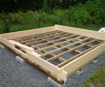 Log Cabin Kit Assembly - Foundation