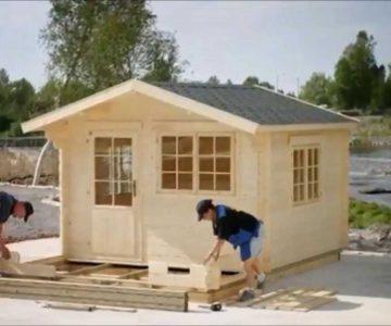 Prefab Wooden Garden Cabin Installation, Stamford, CT, www bzbcabinsandoutdoors net
